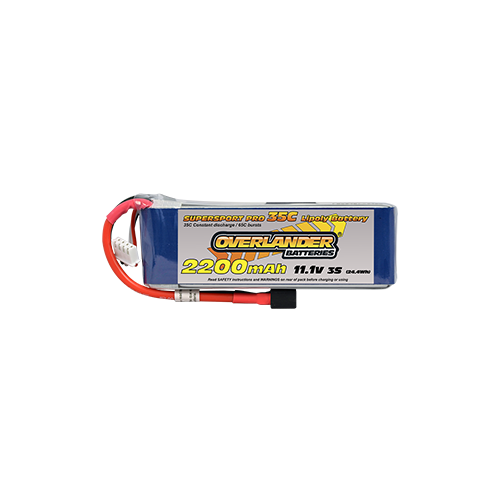 2200mAh 11.1V 3S 35C Supersport Pro LiPo Battery (Deans Connector)