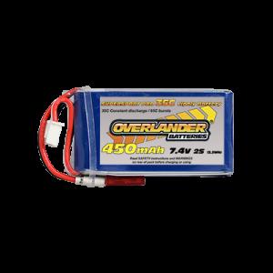 450mAh 2S 7.4v 30C LiPo Battery - Overlander Supersport