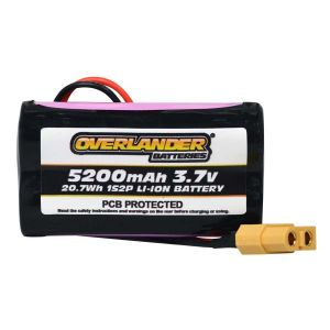 5200mAh 1S2P 3.7v Li-Ion Rechargeable Battery with PCB