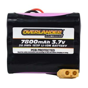 7800mAh 1S3P 3.7v Li-Ion Rechargeable Battery with PCB