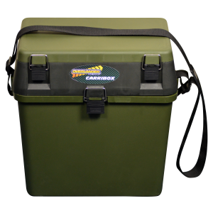 Green Carribox Compact Seat & plastic carry case