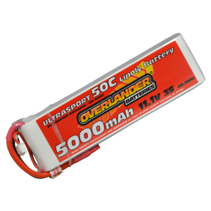 5000mAh 11.1V 3S 50C Ultrasport LiPo Battery
