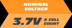 Nominal Voltage: 3.7V