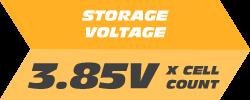 Storage Voltage: 3.85V