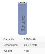2200mAh 18650 (Samsung) (SKU: 3097)